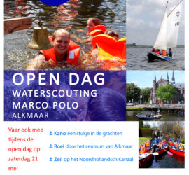 Open dag Marco Polo Alkmaar waterscouting 21 mei 2016